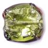 Glass Lamp Bead 18mm Round Flat Cut Olivine/Bronze
